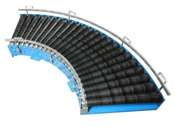 Blume K90 Rollenbahnkurve 90° Rollenkurvenförderer Förderband Rollenbahn