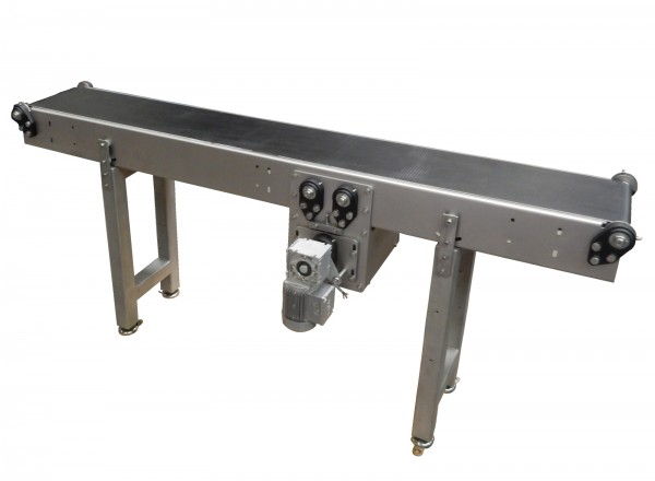 L2015 B290 Förderband Gurtförderer Flachgurtförderer Stückgutförderer Edelstahl