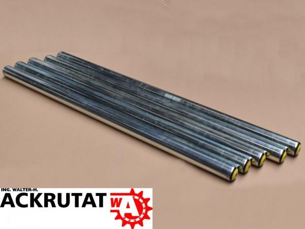 5x Tragrollen für Rollenbahn Interroll Ø 50 mm, Länge 1100 mm, Stahl