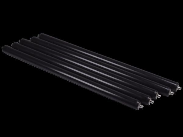 5x Tragrolle Interroll 1100 Förderrolle Rolle Ø 30 RL 540 Förderbahn Kunststoff