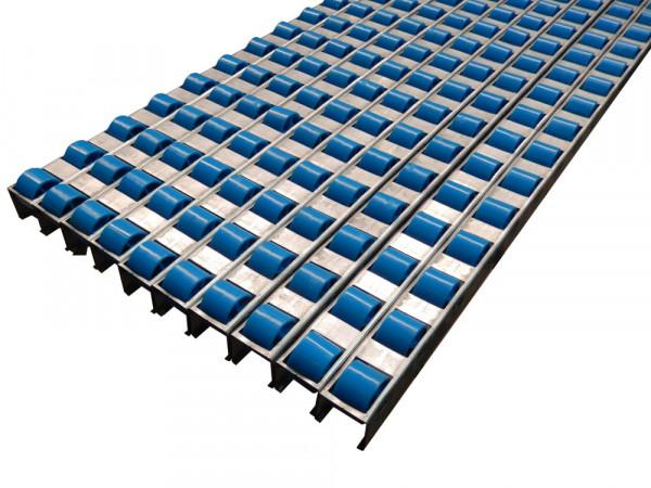 10x Dexion Selecta Flo Röllchenleisten 1820 mm Röllchen Förderstrecke 18,2m in Stahlprofil Schiene