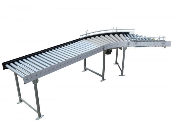 Rollenbahn Transnorm System 45° Ausschleuser Rollenbahnkurve Stückgutförderer
