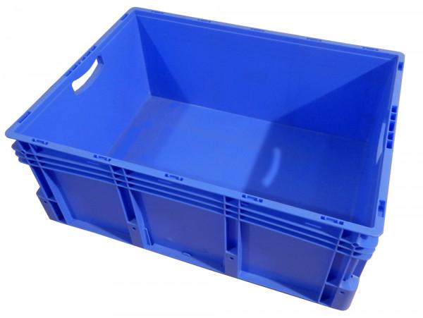 Industriebox glatte Wände blau Kunststoffkiste mit Griffen