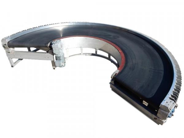 Gurtförderer Transnorm Kurvengurtförderer 225° Förderbandkurve Gurtkurve
