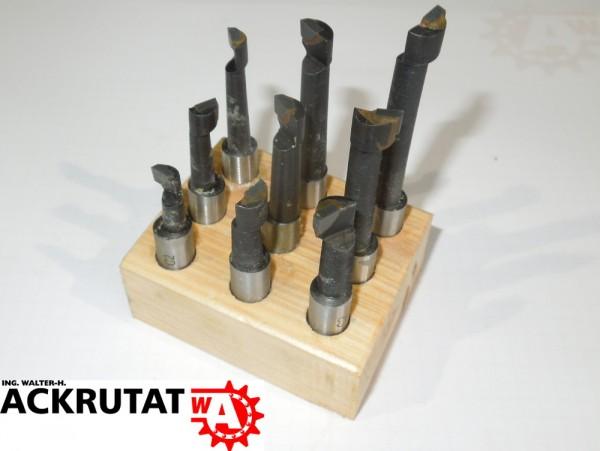 Knuth 9 Teiliges Bohrstangensatz 708605 10 mm Bohrer Werkzeug hartmetallbestückt