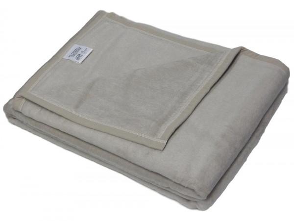 2x Biederlack Wolldecke grau Decke Wohndecke 150x200 Kuscheldecke Sevilla