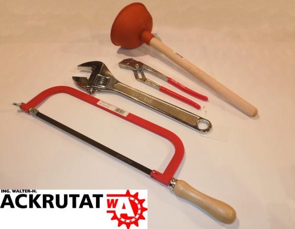 4 Teile Werkzeugset Engländer Rollgabelschlüssel Maulschlüssel Metallsäge Set
