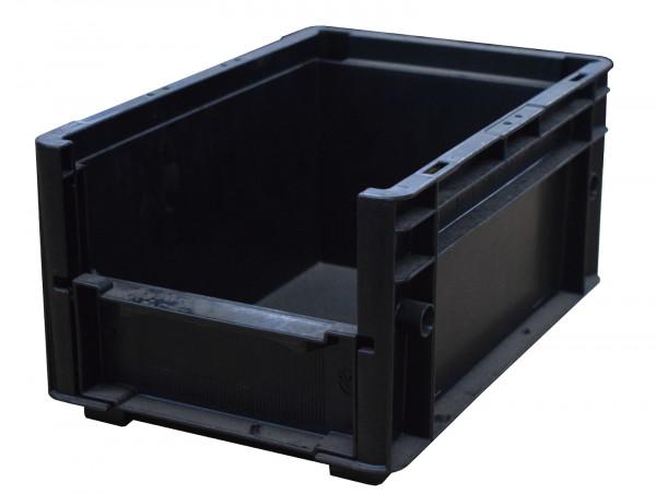 UTZ Sichtlagerkiste schwarz, stapelbar