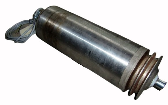 Joki Trommelmotor Walzenmotor Keilriemenscheibe Förderband RL=360 mm Ø 135 mm