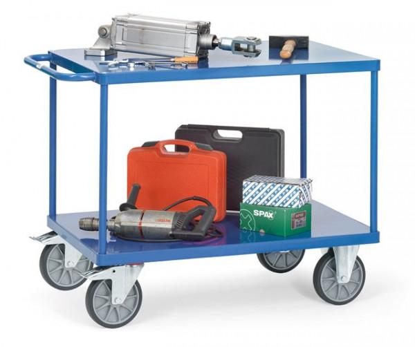 Fetra Tischwagen 2402B Ladefläche 1.000 x 700 mm bis 600 kg mit 2 Böden aus Stahlblech