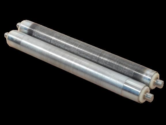 2 St. Umlenkrolle Stahlrolle Förderbandrolle RL 540 mm Untergurtrolle Ø 60 mm