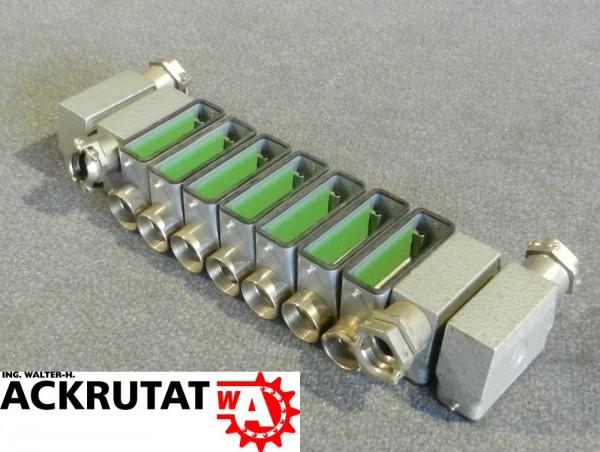 11 teiliger Steckergehäusesatz Contact H-A 16T Stecker Industrie Gehäuse