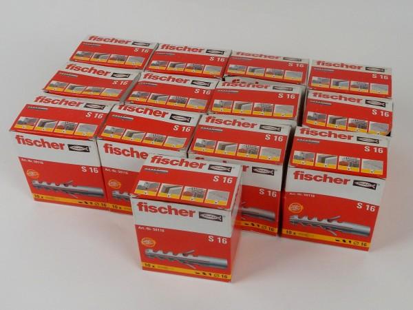 130x Fischer S16 Universaldübel Befestigungssystem Spreizdübel Nylondübel