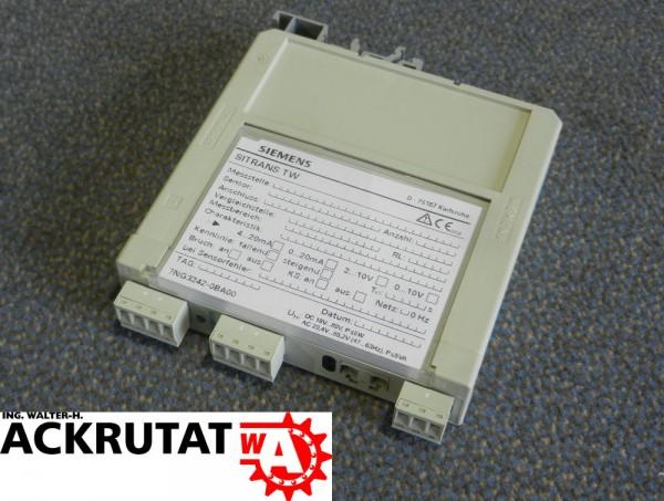 Siemens Messumformer Sitrans TW 7NG32420BA00 Temperaturmessumformer Wandler