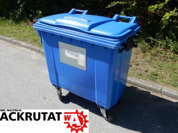 Otto Mülltonne EN 840-2 Abfallbehälter Müllbehälter Großmülltonne 770 L fahrbar
