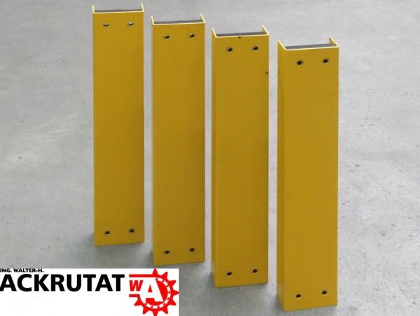 4x Rammschutzprofil Regal Anfahrschutz Stahlrammschutz H 670 mm Pfostenschutz