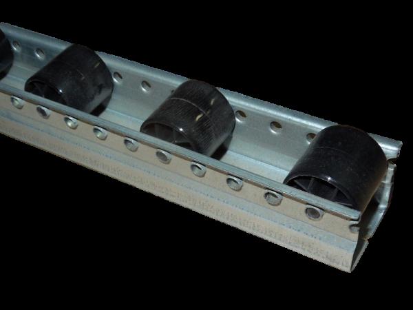 10x Röllchenschienen 1405 mm Röllchenbahn Rollenleiste Rollbahn Stahlprofil Schiene