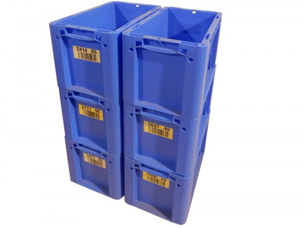 6x Eurostapelbehälter Bito XL 32221 Industriebox Lagerkasten blau Stapelbehälter