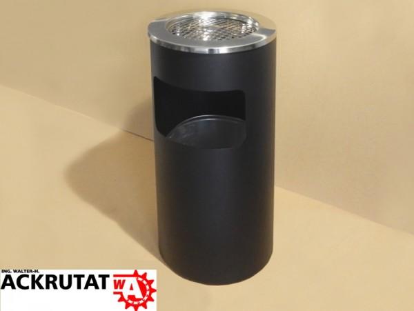 Abfall-Ascher schwarz 20 Liter Mülleimer Abfallbehälter Sicherheits-Standascher