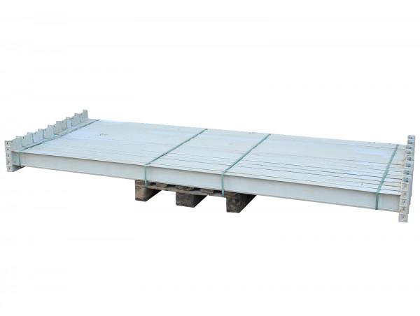 Traversen Galler Palettenregal LW2900 H120 B65 Stahl weiß Balken Holm Träger