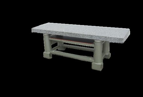 Effbe AL2 I Schwingungsisolationstisch mit Luftfederisolatoren mit Granitplatte 2510x790x830 mm BxTxH