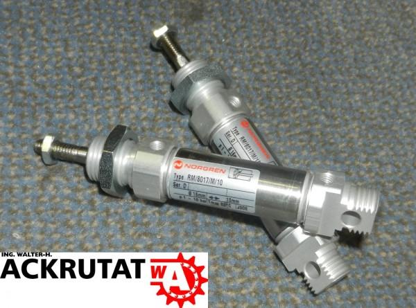 2 Norgren Zylinder Doppelwirkend Rundzylinder RM/8017/M/10 Pneumatik