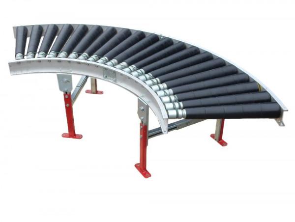 Hirschi 90° Rollenbahnkurve 24 V Kurvenförderbahn Förderkurve Driveroll Motoren
