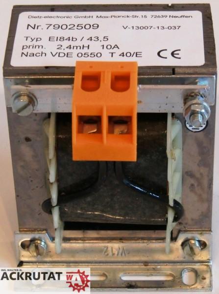 Dietz Netzdrossel Netztransformator E184b 43,5 7902509