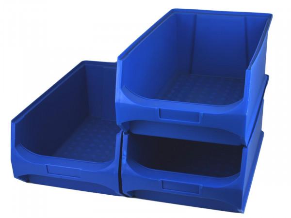 Gewe Sichtlagerkasten 3er Set blau