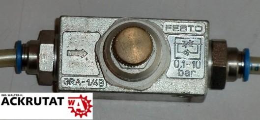 Festo Drossel-Rückschlagventil GRA-1/4B 6509 10 bar flow control