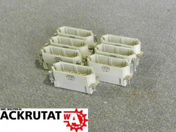 7 Kontakteinsätze Contact H-D 25 S 25 pol. 10A Steckverbinder Buchse