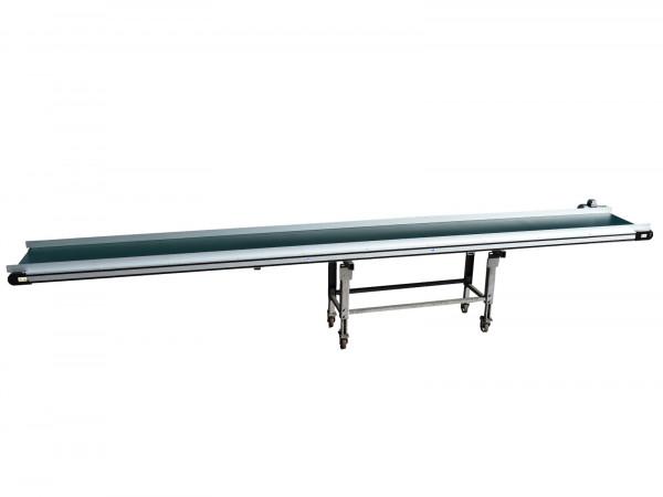 L5500 B580 Förderband Trio Technik Flachgurtförderer PVC Glattgurt Transportbahn