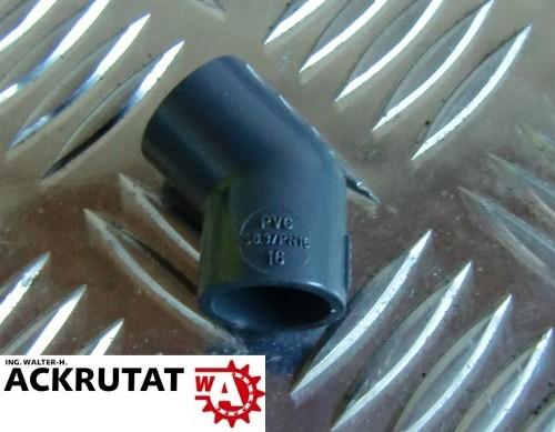 10 Stück GF Georg Fischer Winkel 45° PVC d16 mit Klebemuffen metrisch