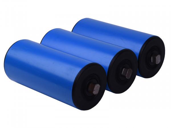 3x Tragrolle für Rollenbahn Kunststoffrolle Ø 90 mm Normrolle Länge 200 mm