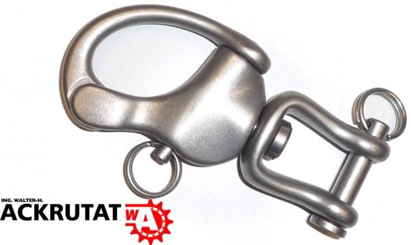 Titan Schnappschäkel Schäkel Drehschäkel 1600 Kg # 1 leichter als V2a Edelstahl
