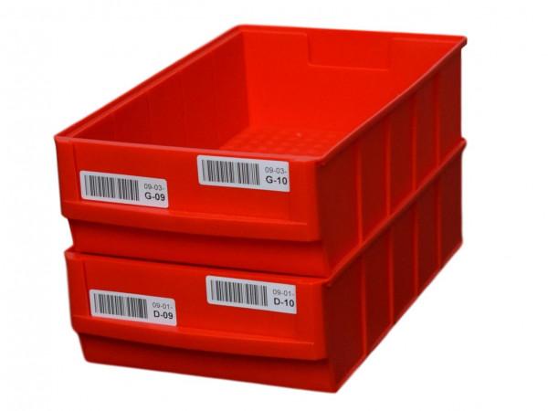 Lagersichtbehälter rot BRB-Lagersysteme Regalkasten