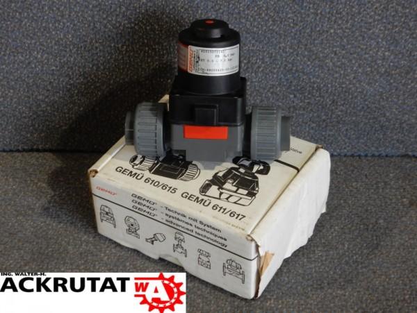 Membranventil Gemü Typ 610 pneumatisch Ventilkörper Kolbenantrieb Optische Stellungsanzeige