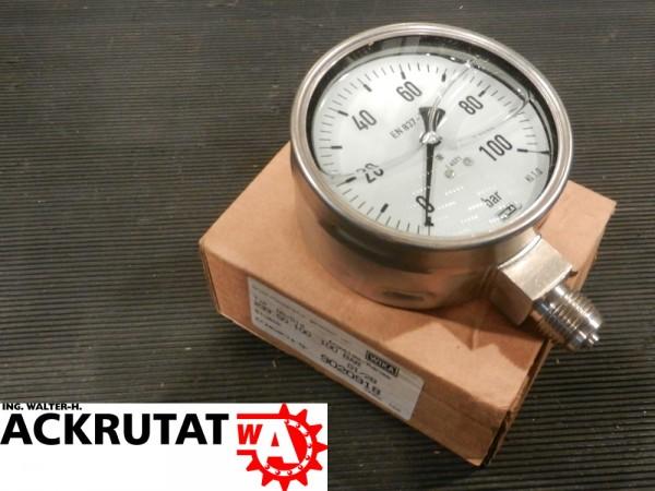 Wika Druckermittler 233.50 Druckmessgerät Rohrfeder Barometer Manometer Glyzerin