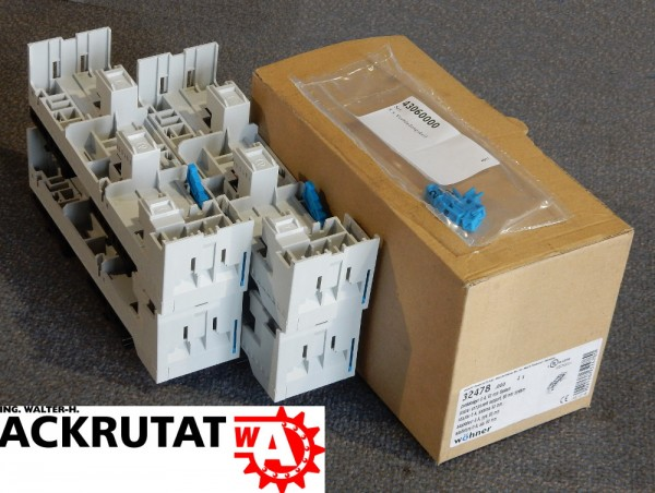 4x Wöhner Sammelschiene Adapter 32478 Geräteträger Easy Connector Tragschiene