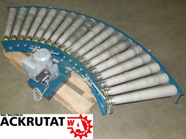 Rollenbahnkurve 90° Rollenkurvenförderer Rollenbahn Antrieb Kurve Förderbahn