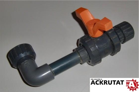 """FIP BATCH G/34695 Kugelhahn 1/2"""" mit Winkel 90° DN 15 PVC"""