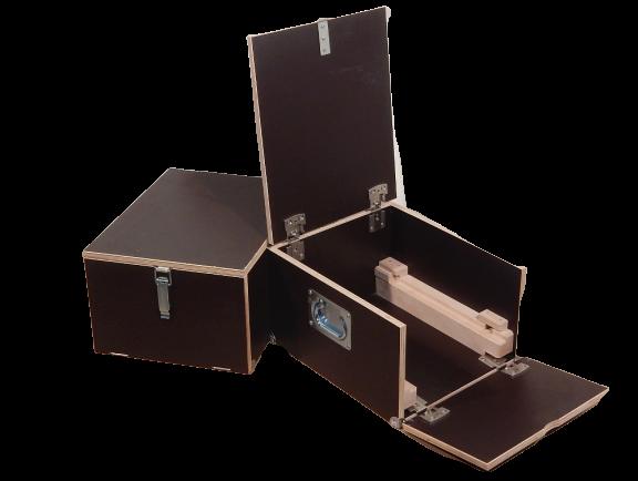 2x Holzkisten Lagerkasten Kiste Transportbox B360xT450xH250 Box Konzertequipment