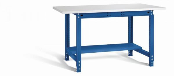 Otto Kind Werkbank 1524 x 750 x 718-958 mm (BxTxH), Melaminplatte, blau, Typ allrounder 121 m