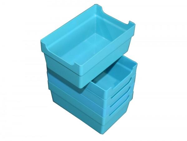 100 Kleinteilebox blau Lagerbox Schraubenkasten Kisten Sortimentsbox Lagerkasten