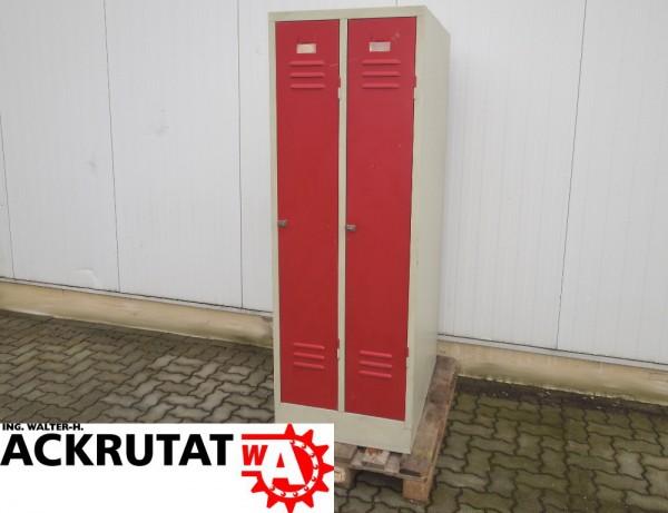 2 Türen Kleiderspind Stahlschrank Spind Metall Schrank ...