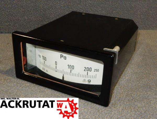 VEB Druckanzeige Anzeige Anzeigeinstrument Messanzeige 250 Pa Instrument
