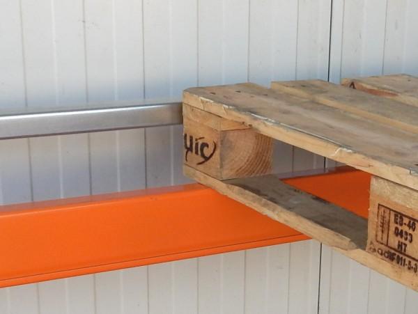 2x Jungheinrich Typ S / Typ T Durchschubsicherung Palettenregal Sicherung, verzinkt, Stahlprofil