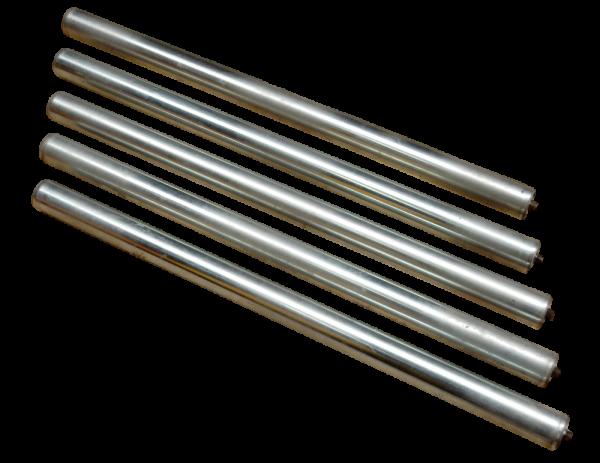5 Normrollen Förderband Rolle RL=865 mm Tragrolle Untergurtrolle Ø 50 mm
