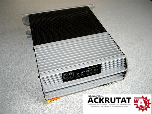 Block Gleichstromversorgung Trafo Sky 400/15 3x 400 V