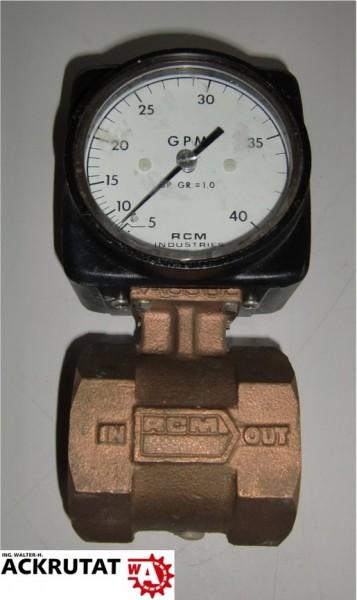 """RCM Industries 2""""-71-R-40 Messbereich 5 bis 40 GPM Messgerät"""